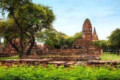 historisk park för forntida ayutthaya Fotografering för Bildbyråer