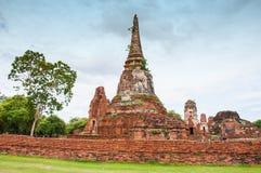 historisk park för forntida ayutthaya Arkivfoto