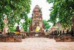 historisk park för forntida ayutthaya Arkivfoton