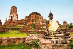 historisk park för forntida ayutthaya Arkivbilder