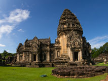 historisk parkphimai Prasat Hin Phimai Nakhon Ratchasima Arkivfoto