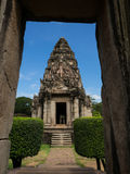 historisk parkphimai Prasat Hin Phimai thailändska Nakhon Ratchasima Arkivfoton