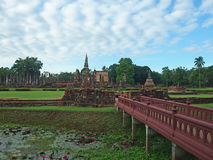 historisk parksukhothai Arkivbild