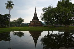 historisk parksukhothai thailand Arkivfoto