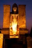 historisk parksukhothaithailand skymning Royaltyfri Bild