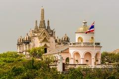 historisk phra för khirinakhonpark Arkivfoto