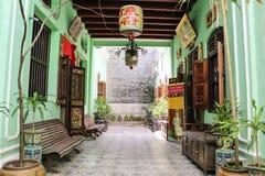 Historisk Pinang Peranakan herrgård royaltyfria bilder