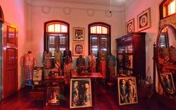 Historisk Pinang Peranakan herrgård i Georgetown, Penang Arkivbild