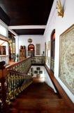 Historisk Pinang Peranakan herrgård i Georgetown, Penang Arkivfoton
