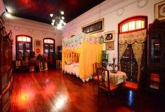 Historisk Pinang Peranakan herrgård i Georgetown, Penang Arkivbilder