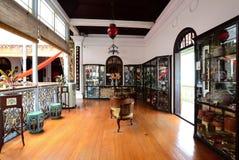 Historisk Pinang Peranakan herrgård i Georgetown, Penang Arkivfoto