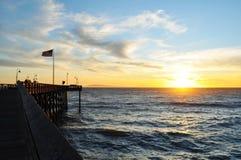 Historisk pir, Ventura, Kalifornien Arkivfoto