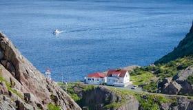 Historisk plats av Kanada, fortet Amherst i St John & x27; s Newfoundland Arkivbilder