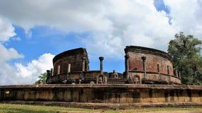 Historisk plats för gammal buddhismtempel fotografering för bildbyråer