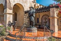 Historisk plats för mormonbataljon i San Diego Arkivfoto