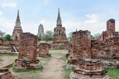 Historisk plats på Wat Mahatat, Thailand Arkivfoto