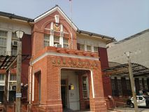 Historisk polisstation - Puzi filialkontor arkivfoton