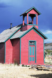 Historisk prariekyrka nära Montrose, Colorado, USA fotografering för bildbyråer
