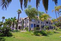 Historisk Pyne slott i den norr Laguna Beach, Califo royaltyfria foton