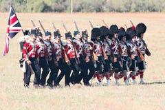 Historisk reenactment av det Crimean kriget Arkivfoto