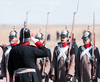 Historisk reenactment av det Crimean kriget Royaltyfri Bild