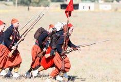 Historisk reenactment av det Crimean kriget Arkivbilder