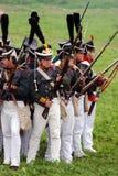 Historisk reenactment för Borodino strid i Ryssland Royaltyfria Foton