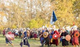 Historisk reenactment i Varna Royaltyfri Bild