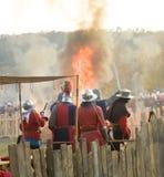 Historisk reenactment i Varna Arkivbild