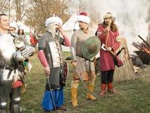 Historisk reenactment i Varna Arkivfoto