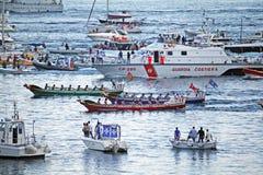 Historisk regatta Royaltyfri Bild