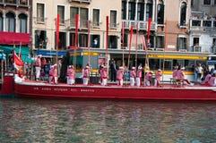 historisk regatta venice Arkivfoto