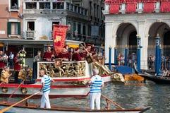historisk regatta venice Arkivbilder