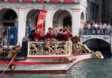 historisk regatta venice Royaltyfria Bilder