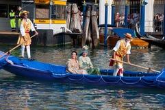 historisk regatta venice Royaltyfri Foto