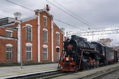 Historisk rekonstruktion av den `-Victory Train `en, Royaltyfria Bilder