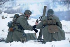 historisk rekonstruktion för militär ii kriger världen Arkivbild