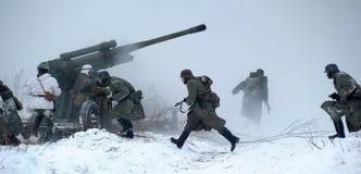 historisk rekonstruktion för militär ii kriger världen Arkivfoto