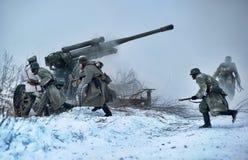 historisk rekonstruktion för militär ii kriger världen Arkivfoton