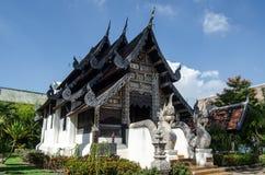 Historisk relikskrin, Wat Chedi Luang, Thailand Arkivfoto