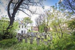 Historisk Remuh kyrkogård i Kazimierz, Krakow, Polen Royaltyfri Foto