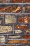 historisk renoverad stenvägg för bakgrund Arkivfoton
