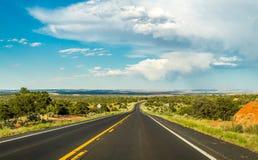 historisk route 66 Väg till nytt - Mexiko från Arizona Arkivfoton