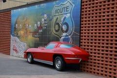 Historisk Route 66 väggmålning i Joplin, MO Royaltyfria Foton