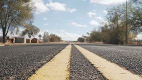 Historisk rutt 66 i Seligman Arizona Arkivbild