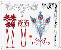 historisk samlingsdesign stock illustrationer
