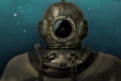 Historisk sammans?ttning f?r djuphavs- dykare arkivbilder