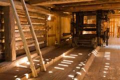 historisk sawmill royaltyfria bilder