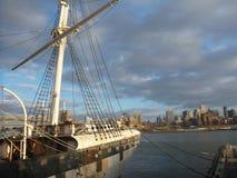 Historisk segelbåt i New York Royaltyfria Foton