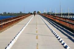 Historisk sju mil bro Arkivbild